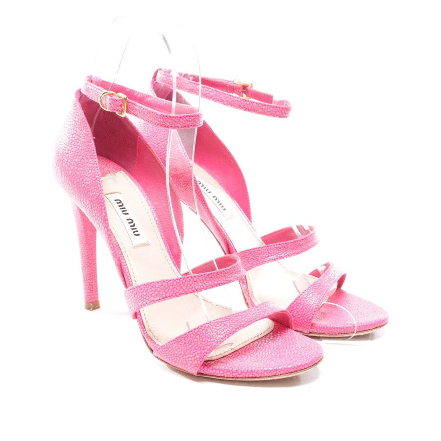 heeled sandals from Miu Miu in shocking pink size D 36,5