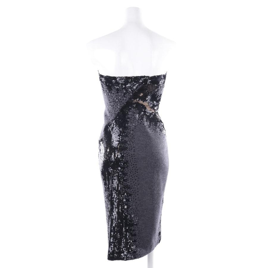 Cocktailkleid von Donna Karan in Grau meliert und Schwarz Gr. 36 US 6