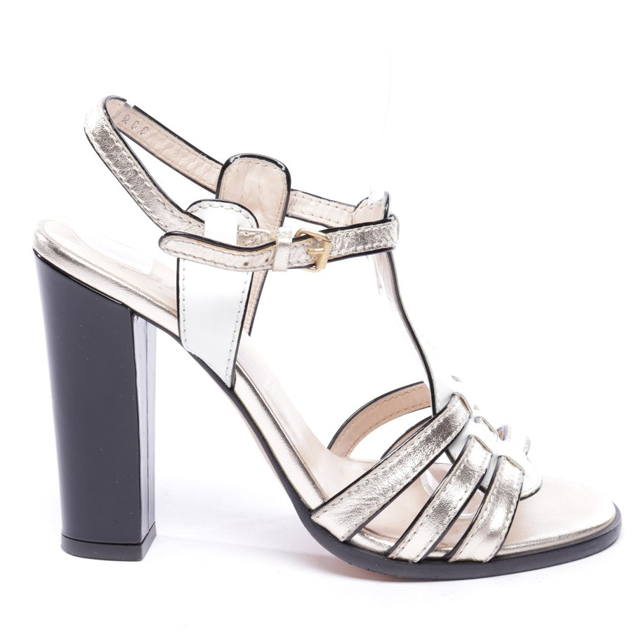 heeled sandals from Bally in offwhite and gold size D 38