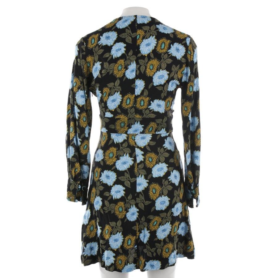 Sommerkleid von Sandro in Schwarz und Blau Gr. 34 FR 36