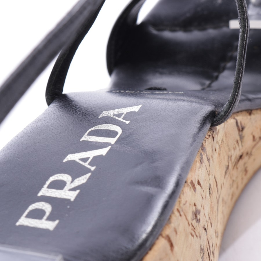 heeled sandals from Prada in black and brown size D 36,5