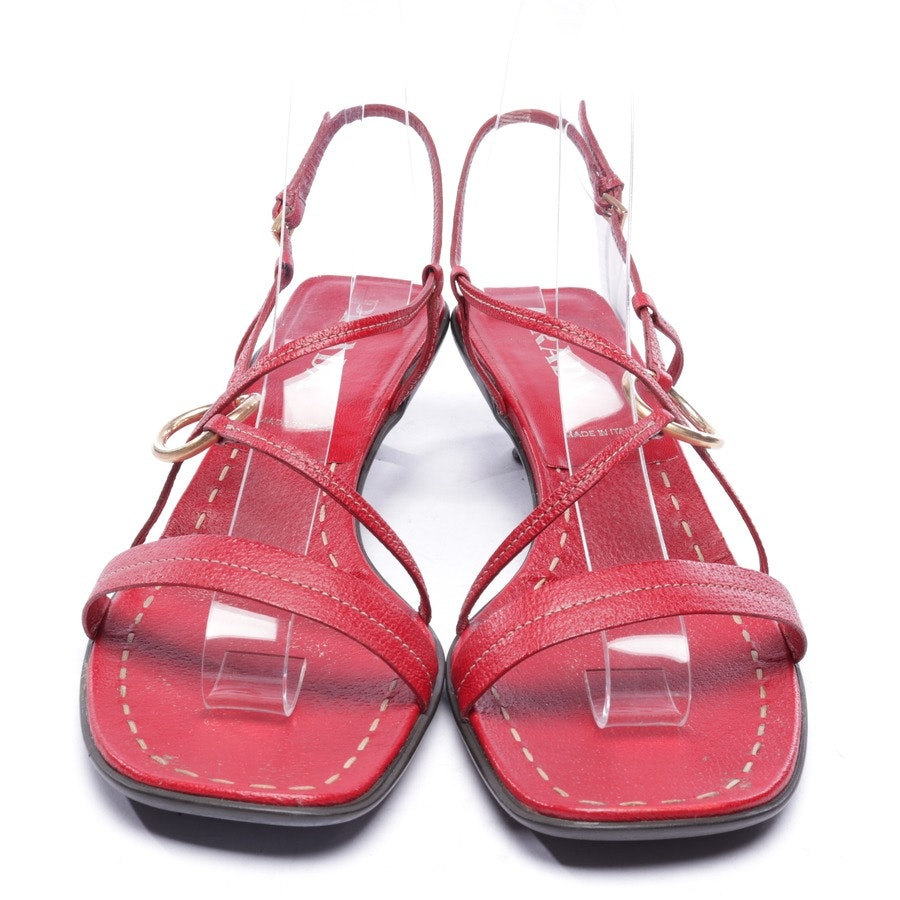 heeled sandals from Prada in red size D 39