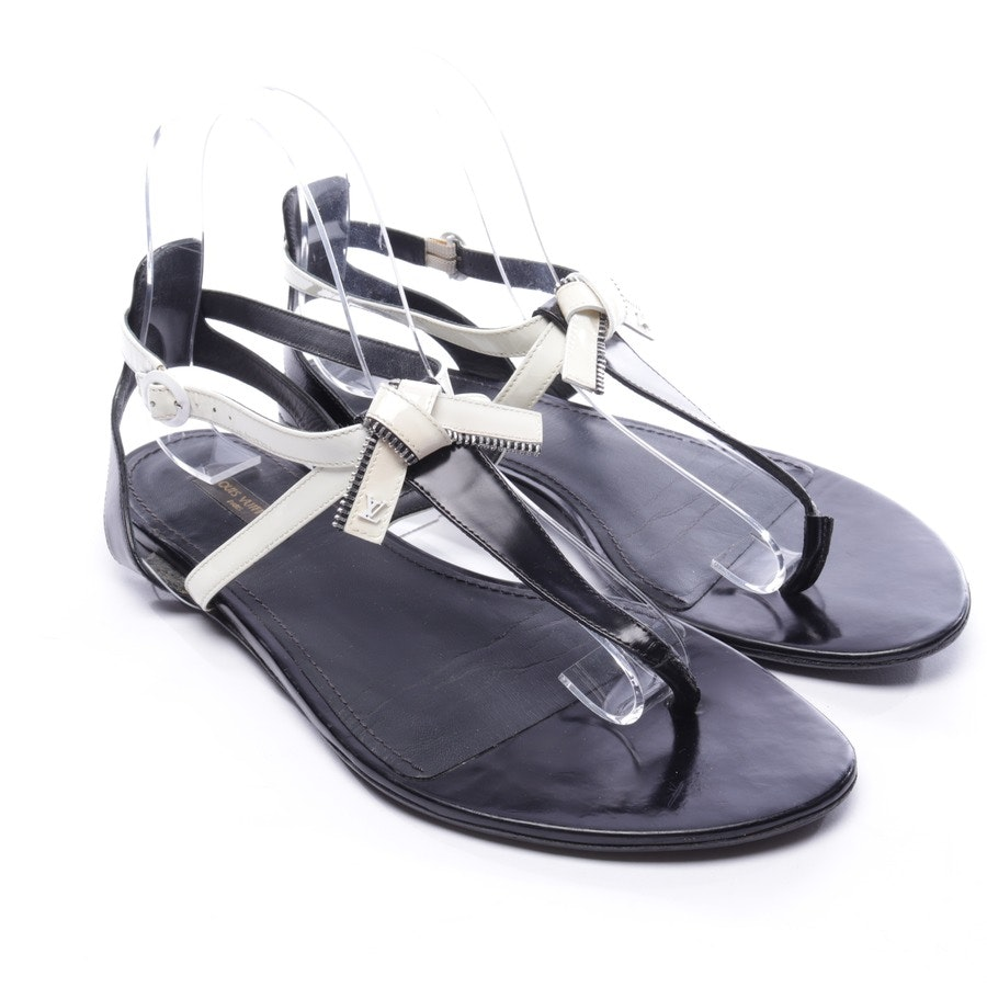 flat sandals from Louis Vuitton in cream white and black size D 39,5