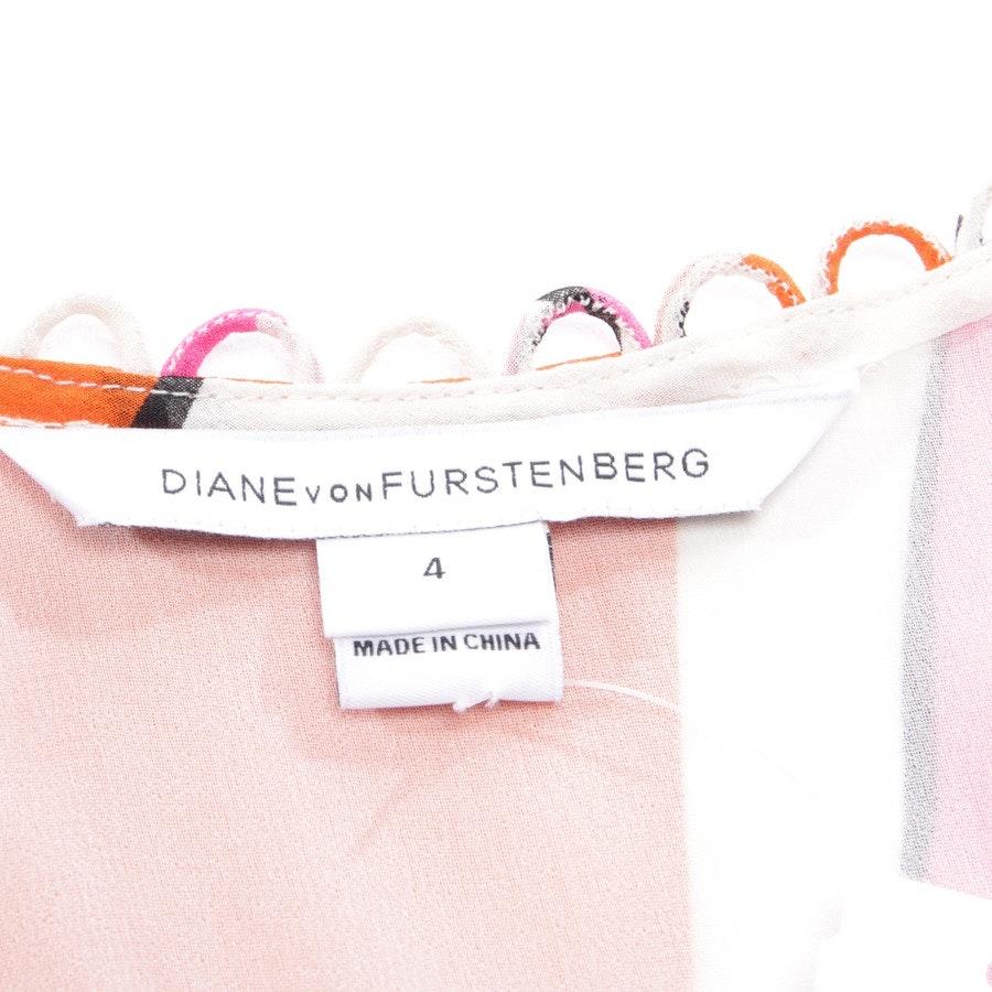 Seidenbluse von Diane von Furstenberg in Weiß und Multicolor Gr. 34 US 4