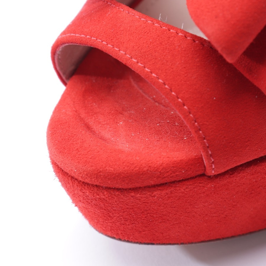 heeled sandals from Miu Miu in coral red size D 38