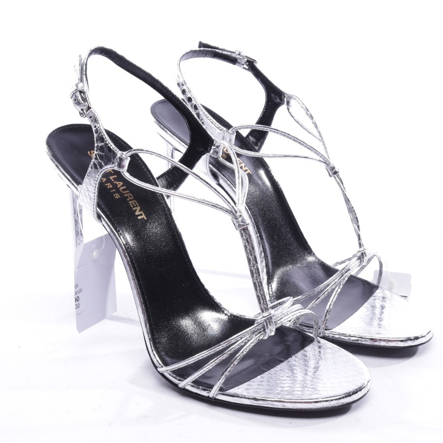 heeled sandals from Saint Laurent in silver size D 39 - new