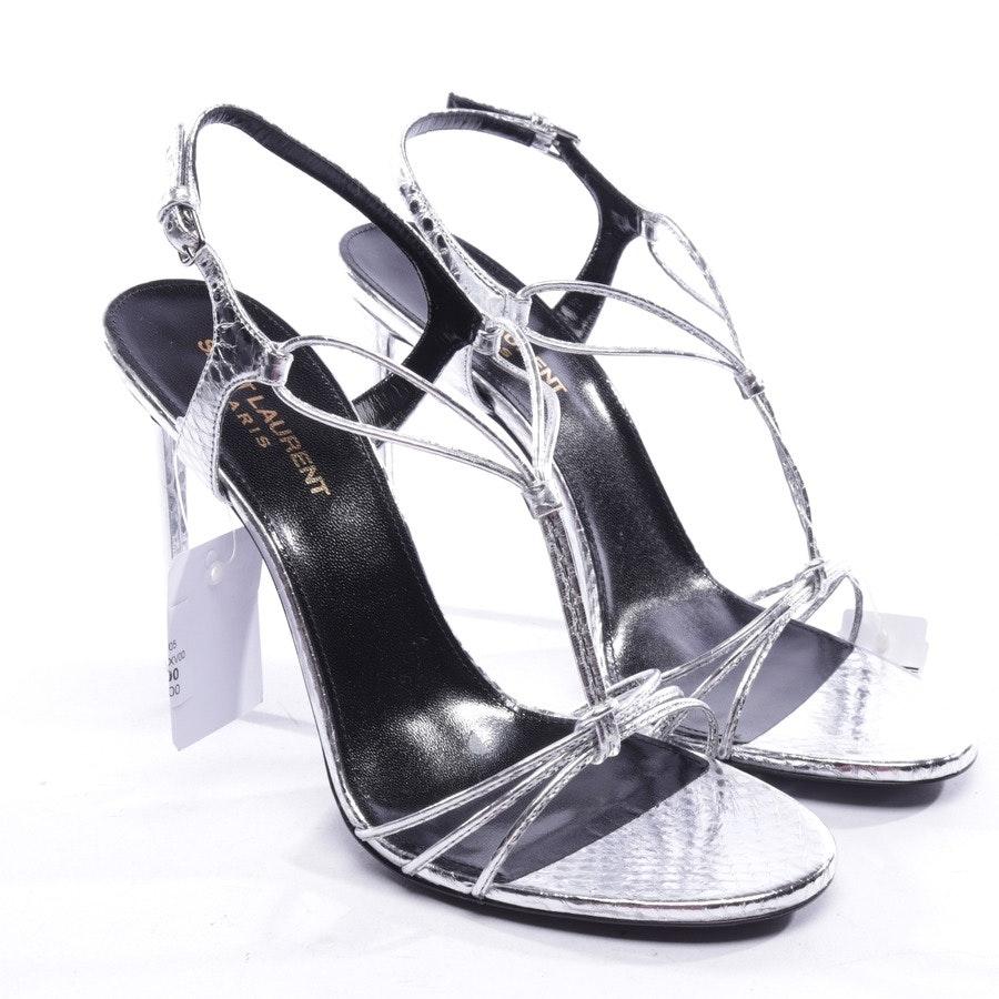 Sandaletten von Saint Laurent in Silber Gr. D 39 - Neu