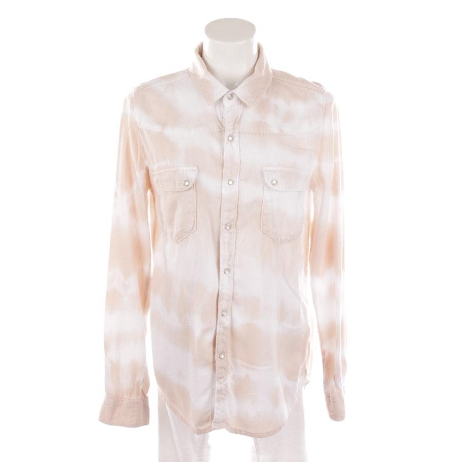 Bluse von Ba&sh in Karamell und Weiß Gr. S