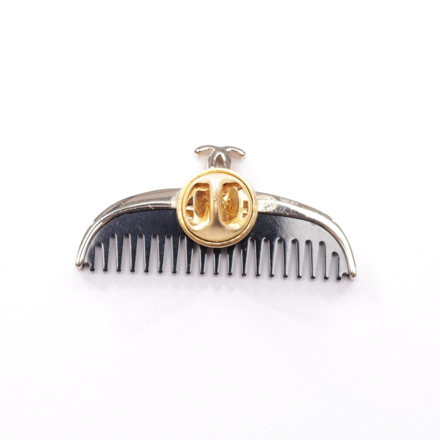 Brosche von Chanel in Schwarz und Gold