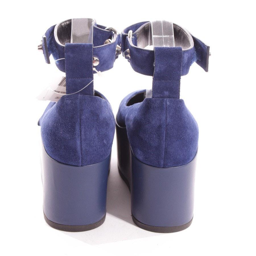 Sandaletten von Balenciaga in Cyanblau Gr. D 38