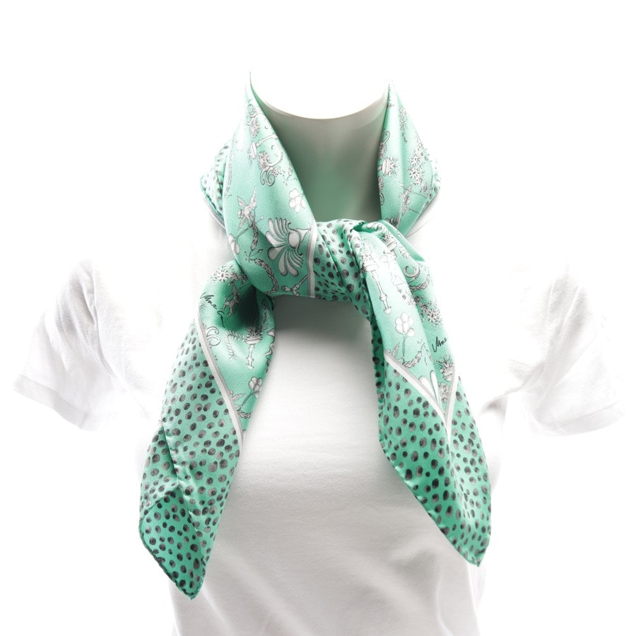 scarf from Marc Cain in turquoise and black