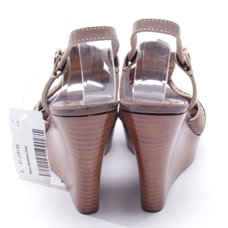 heeled sandals from Chloé in brown size D 36