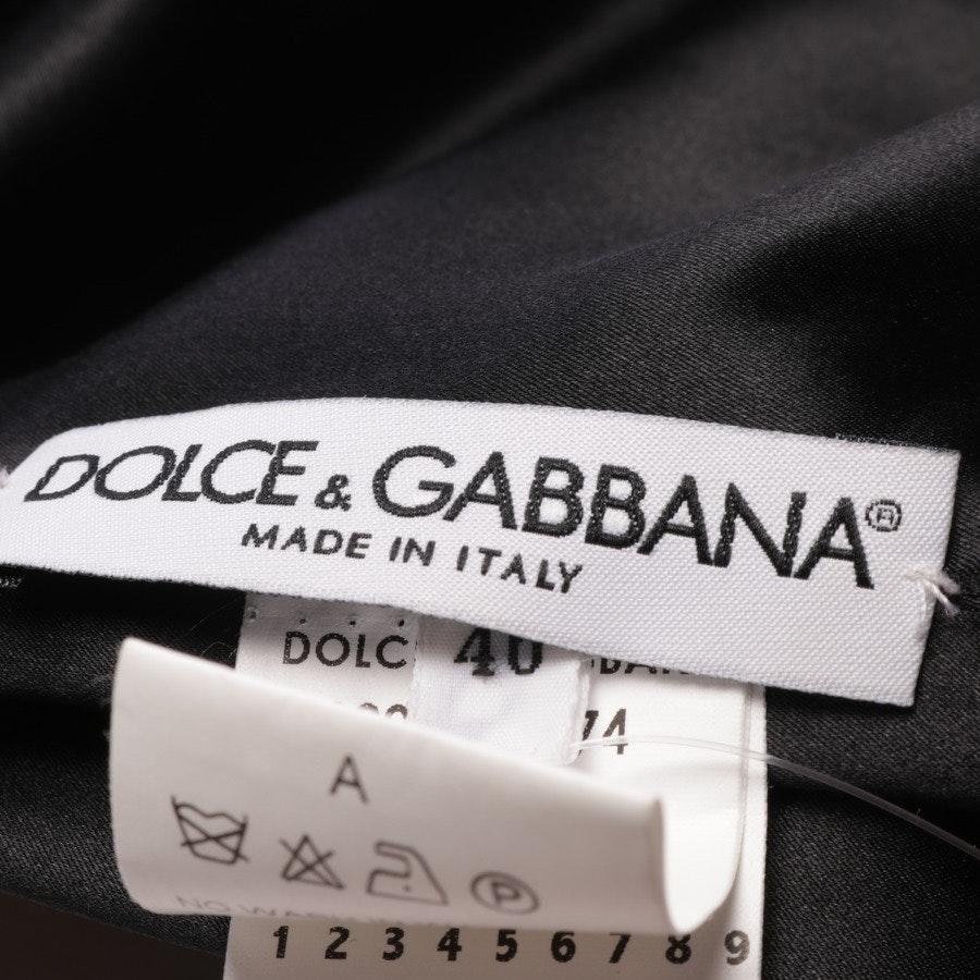 Kleid von Dolce & Gabbana in Orange und Schwarz Gr. 40 IT 46