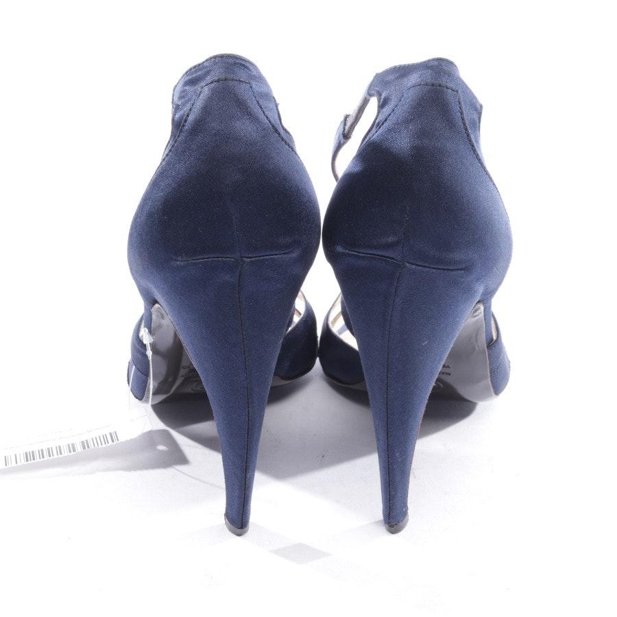 Sandaletten von Alexander McQueen in Nachtblau Gr. D 40