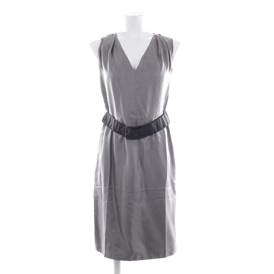 Seidenkleid von Prada in Grau und Schwarz Gr. 34 IT 40