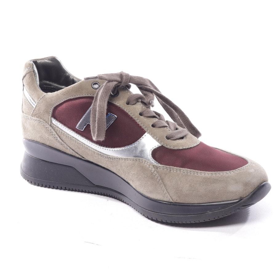 Sneaker von Hogan in Olivgrün und Rot Gr. D 38