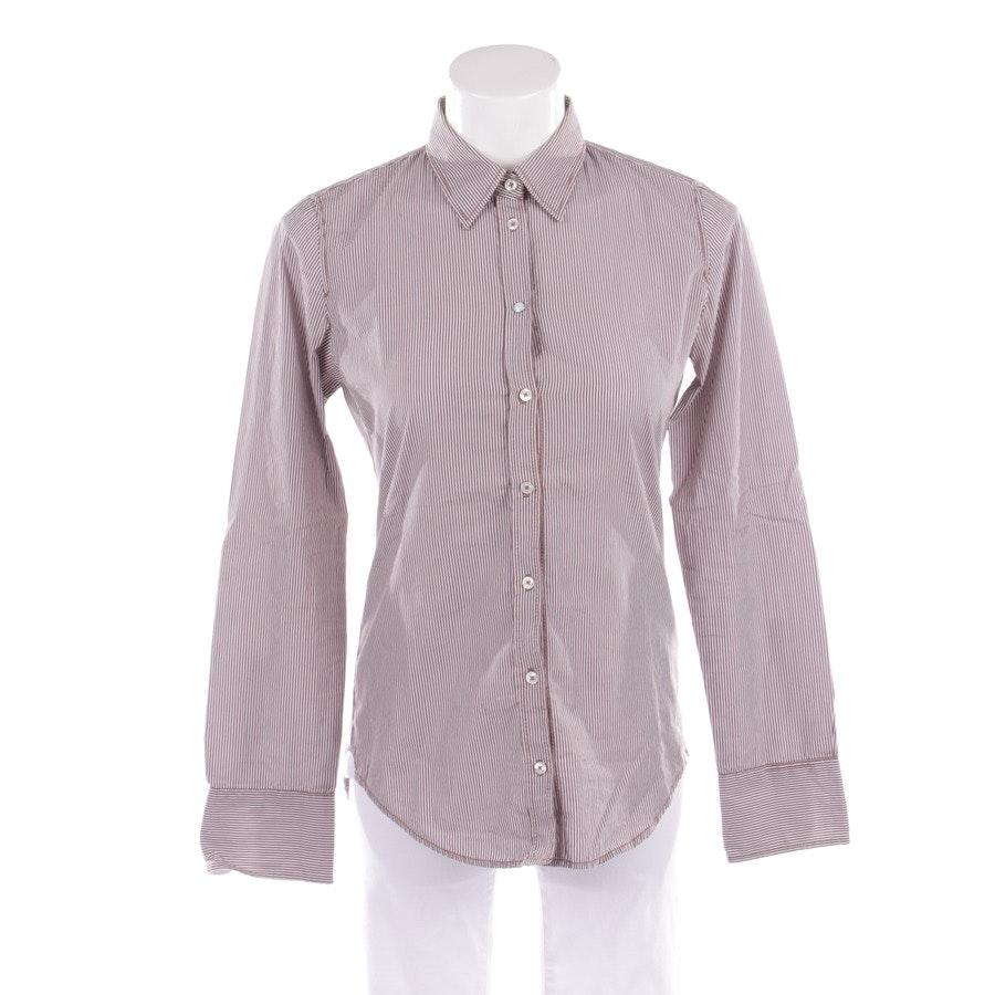 Bluse von Marc O'Polo in Beigebraun und Weiß Gr. DE 34