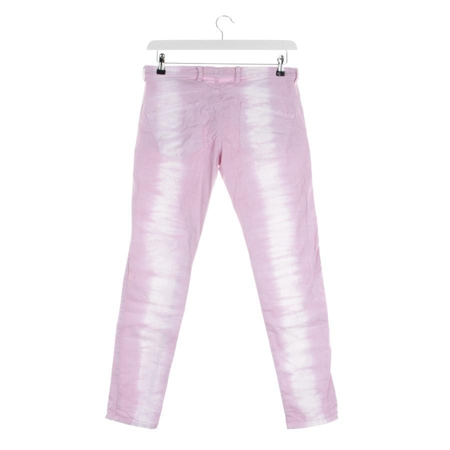 Jeans von Monocrom in Pink und Weiß Gr. W26