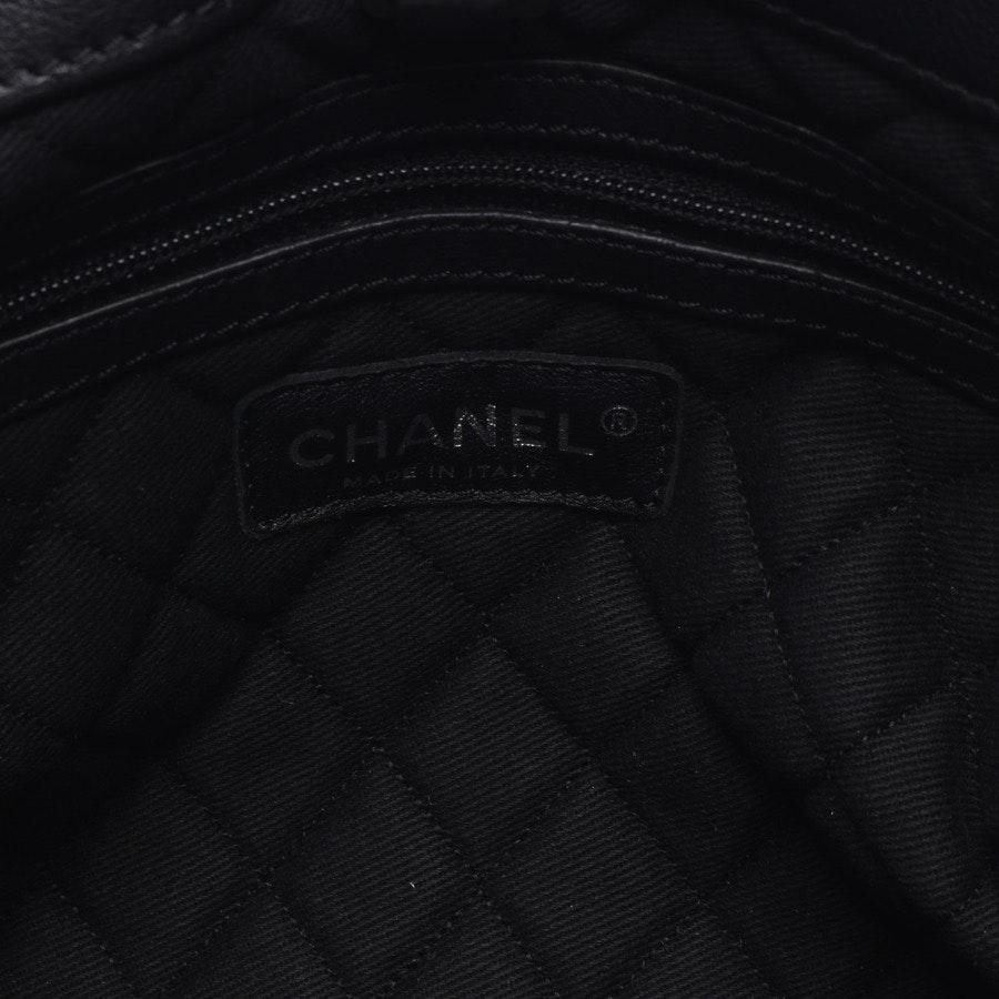 Schultertasche von Chanel in Schwarz - Pony Hair Chain Tote