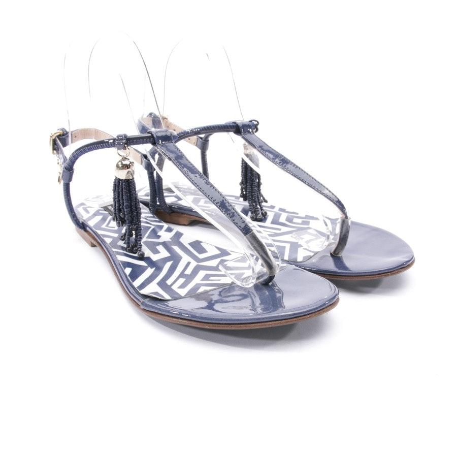 Sandalen von Patrizia Pepe in Blau und Weiß Gr. D 36