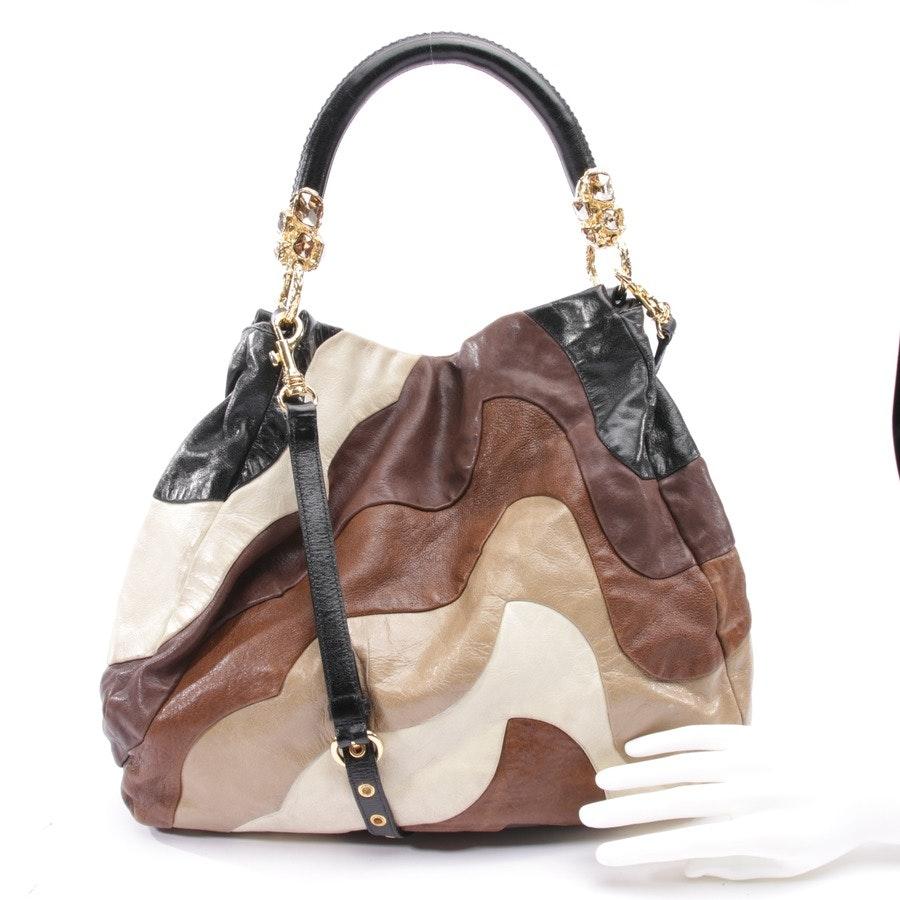 shopper from Miu Miu in brown and black
