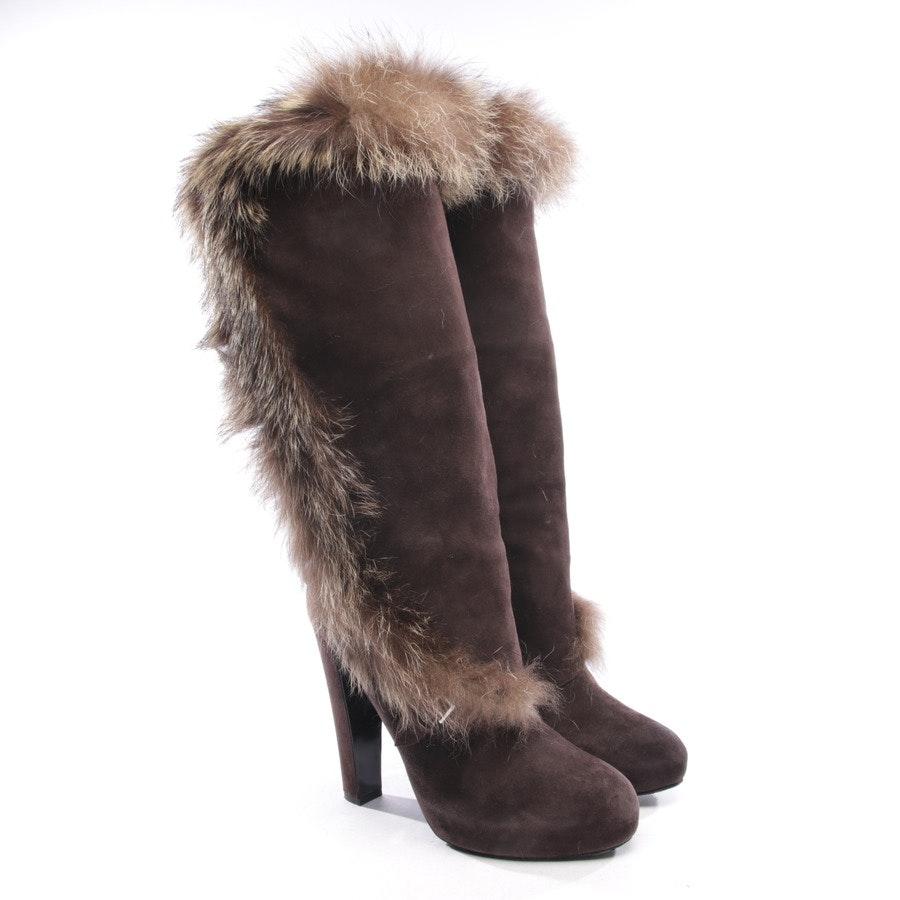 Stiefel von Hermès in Braun Gr. EUR 36,5 - Fellbesatz