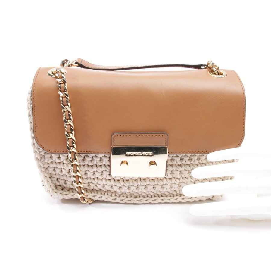 shoulder bag from Michael Kors in brown and natural