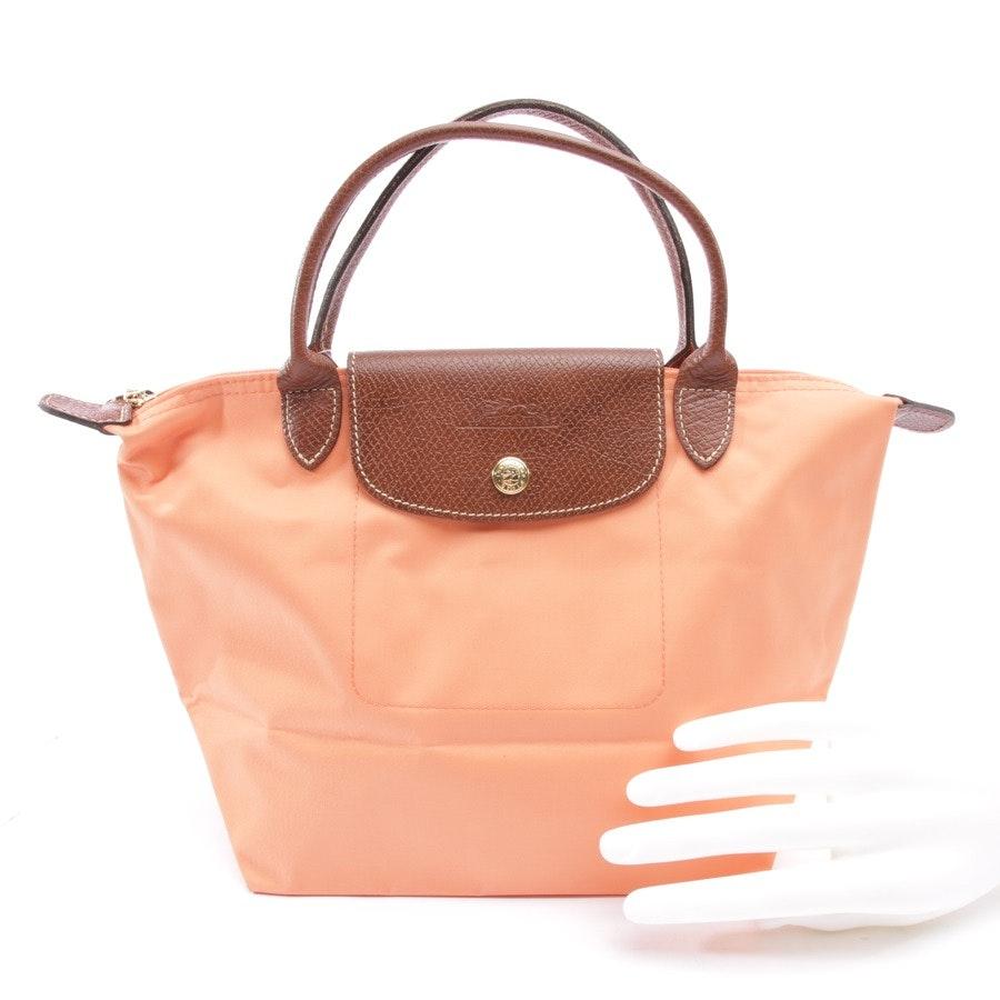 Handtasche von Longchamp in Orange und Braun - Le Pliage S