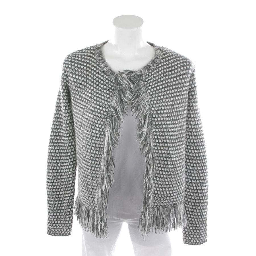 Strickjacke von Rich & Royal in Grau und Weiß Gr. S
