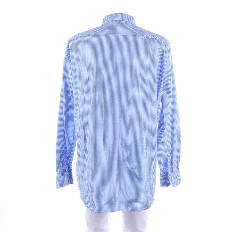 Hemd von Armani Collezioni in Blau und Weiß Gr. 45-46