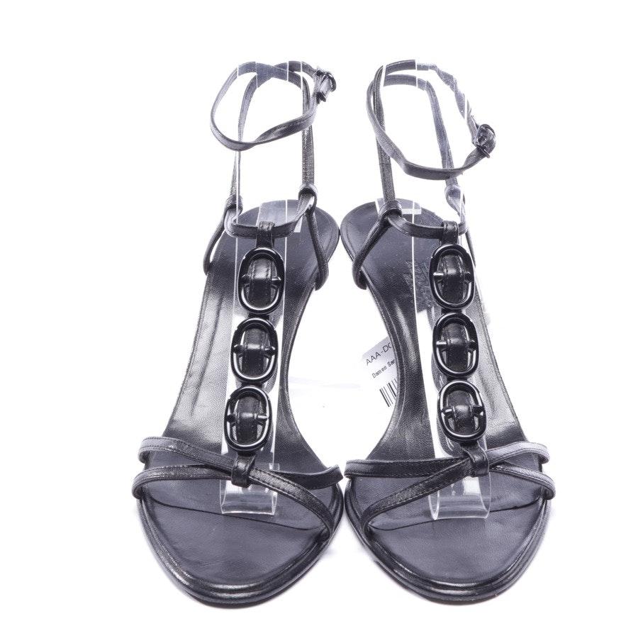 Sandaletten von Hermès in Schwarz Gr. D 36,5