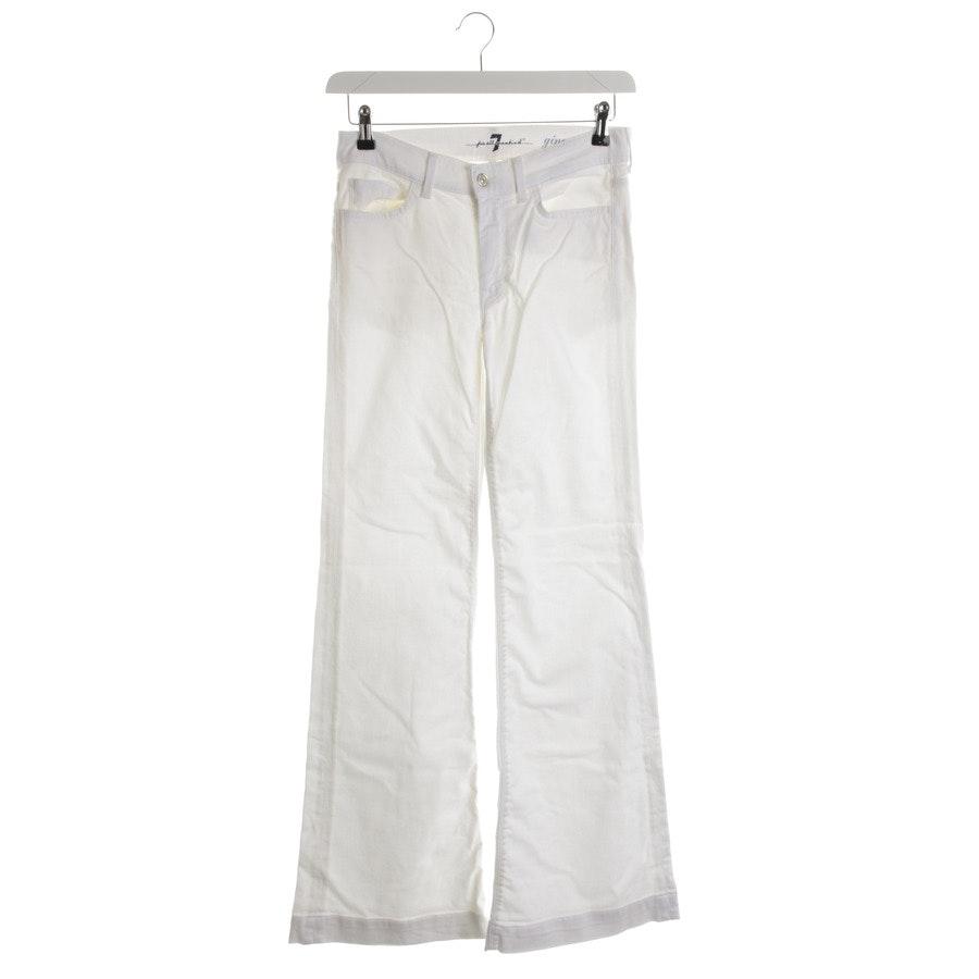 Jeans von 7 for all mankind in Cremeweiß Gr. W28 - Ginger