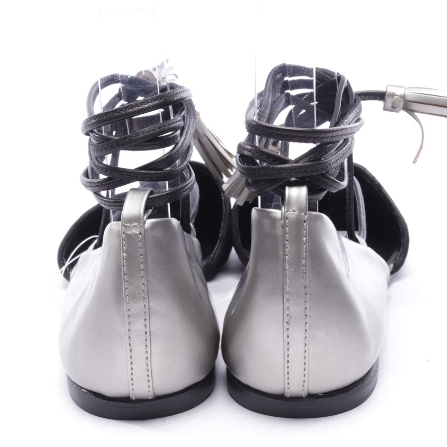 loafers from Kennel & Schmenger in black and silver size D 38,5 UK 5,5