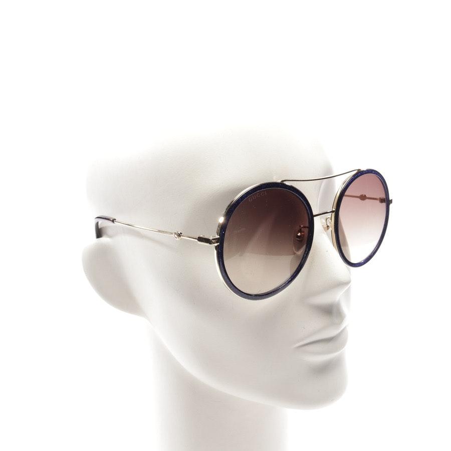 Sonnenbrille von Gucci in Gold und Blau - GG0061S - Neu