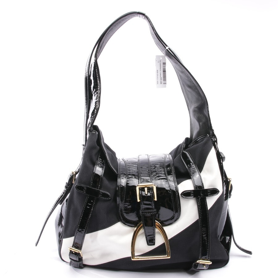 shoulder bag from Polo Ralph Lauren in cream white and black