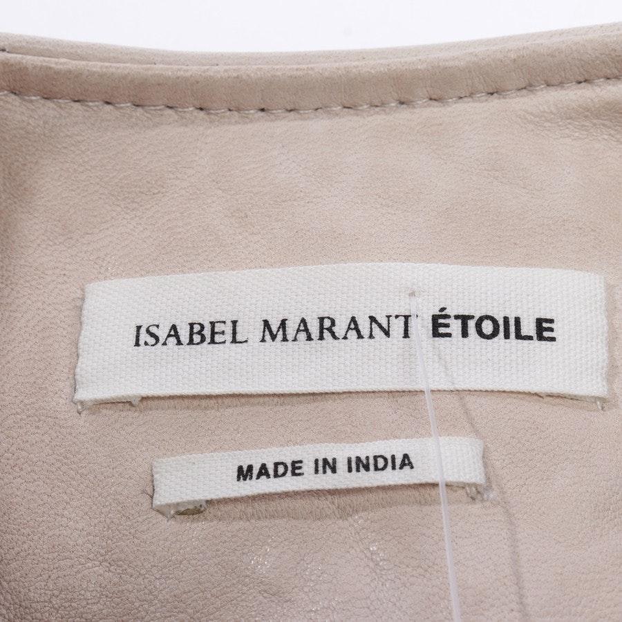 Lederjacke von Isabel Marant Étoile in Sand Gr. 40 FR 42