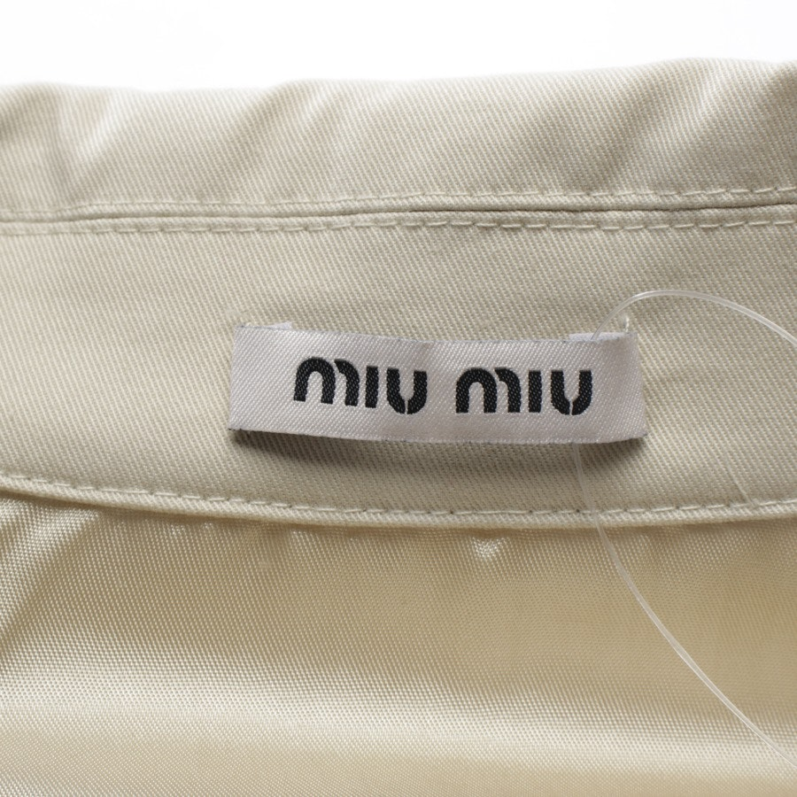 Sommerjacke von Miu Miu in Beige Gr. 34 IT 40