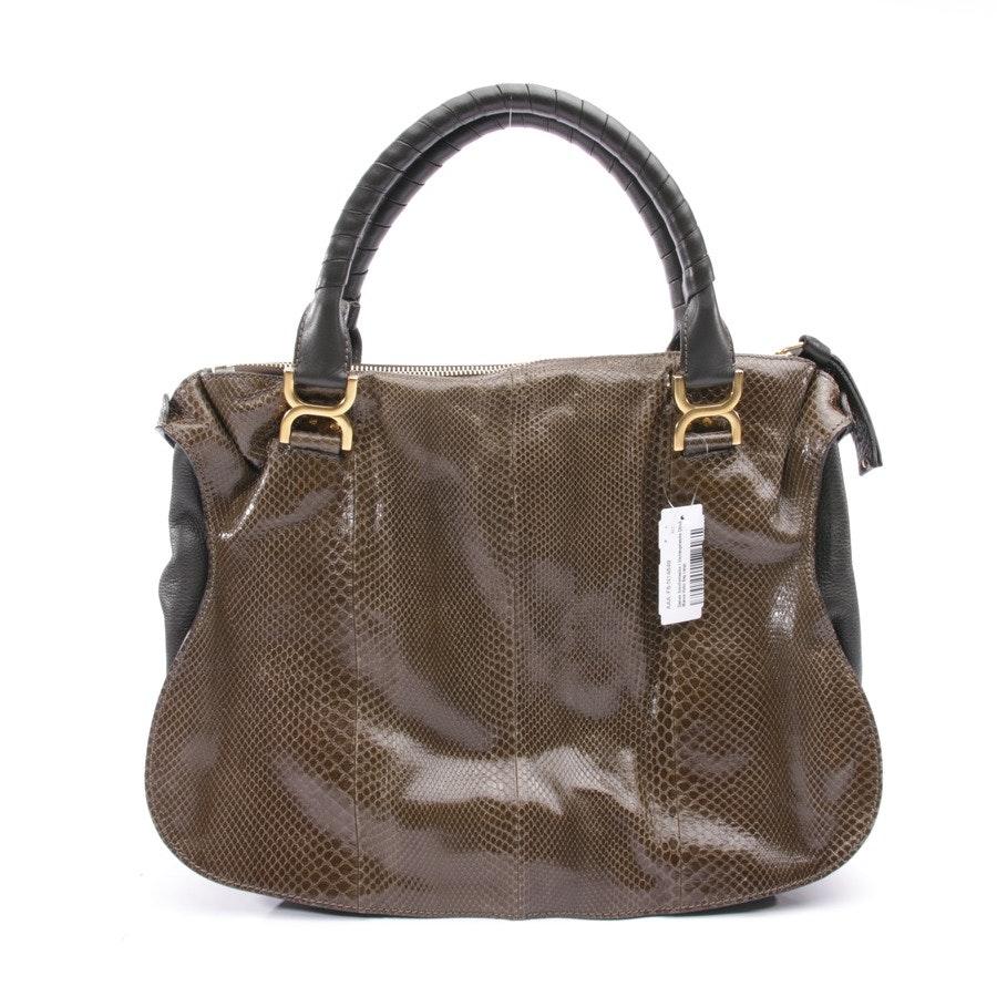 Schultertasche von Chloé in Anthrazit und Grün - Marcie Hobo Bag Large