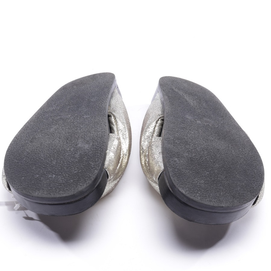 Sandalen von Chloé in Gold und Schwarz Gr. D 39