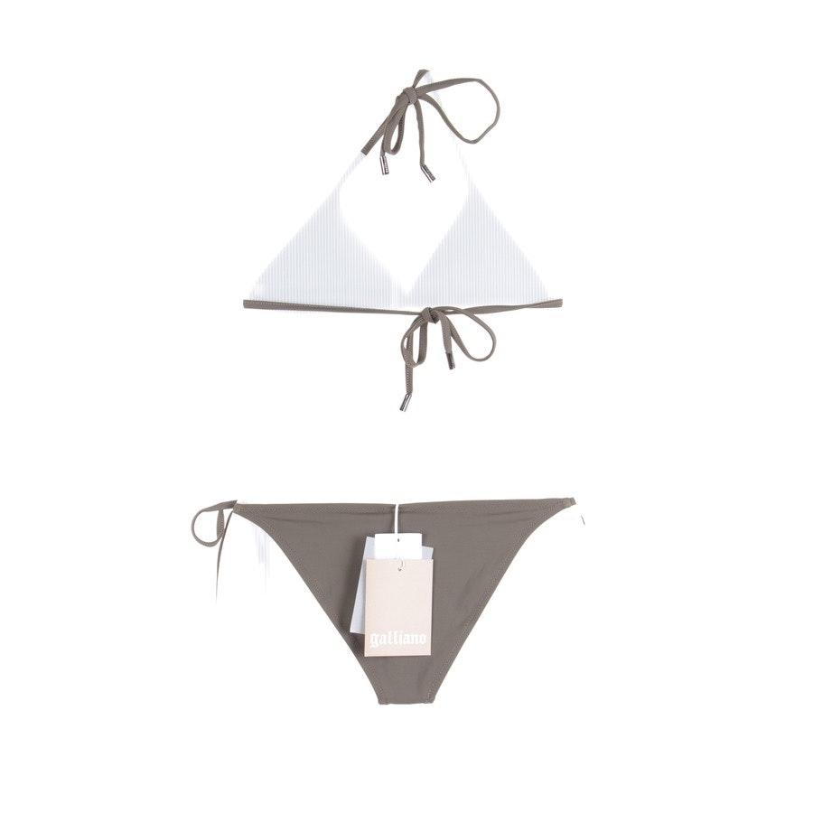 Bikini von John Galliano in Olivgrün Gr. DE 38 / 3 - Neu