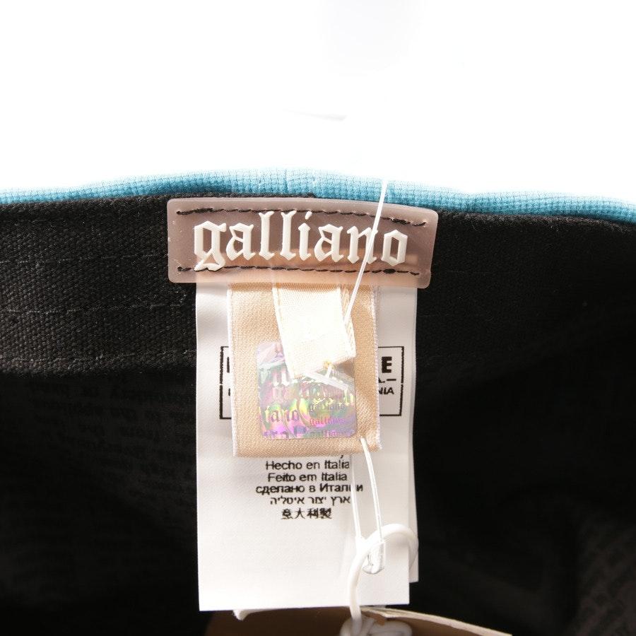 Baseball Cap von John Galliano in Cyanblau Gr. L - Neu