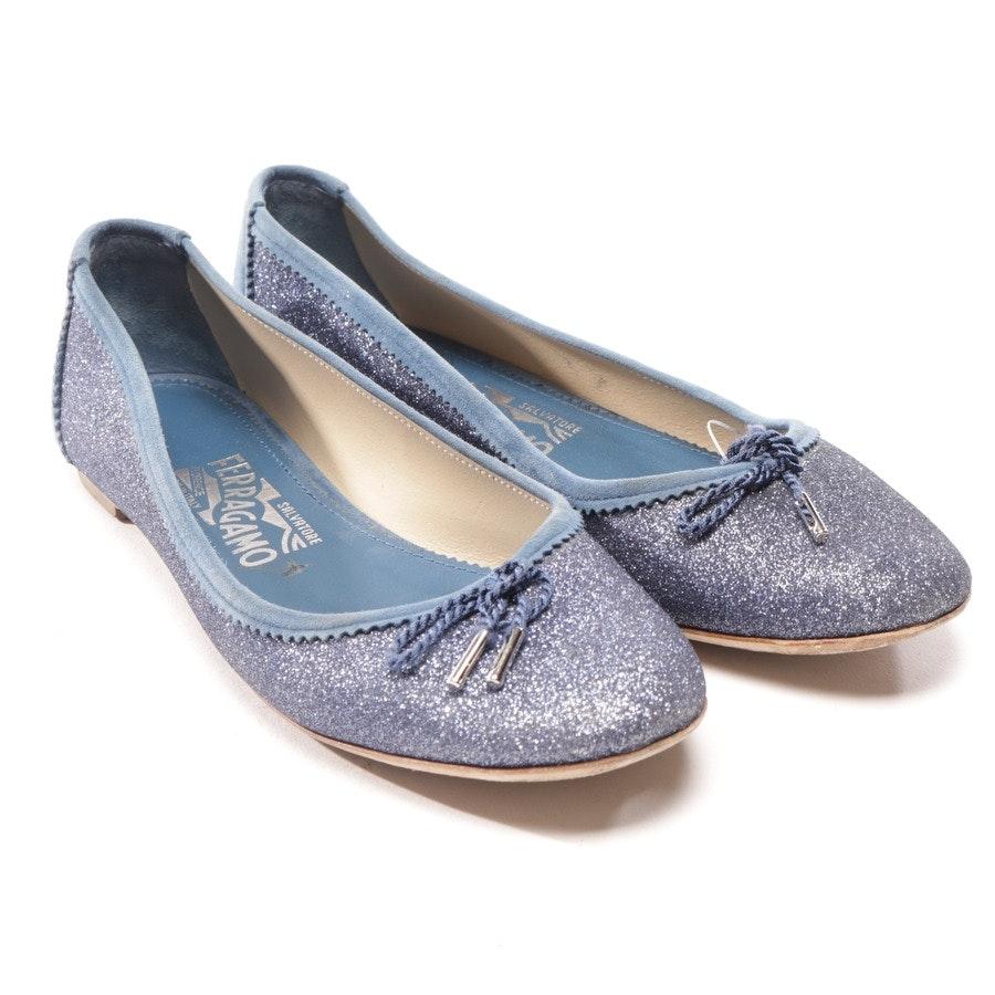 Ballerinas von Salvatore Ferragamo in Blau Gr. D 36,5 US 6