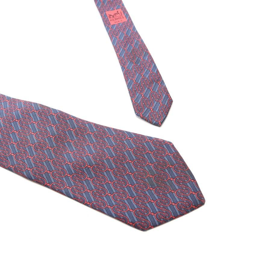 Krawatte von Hermès in Rot und Blau