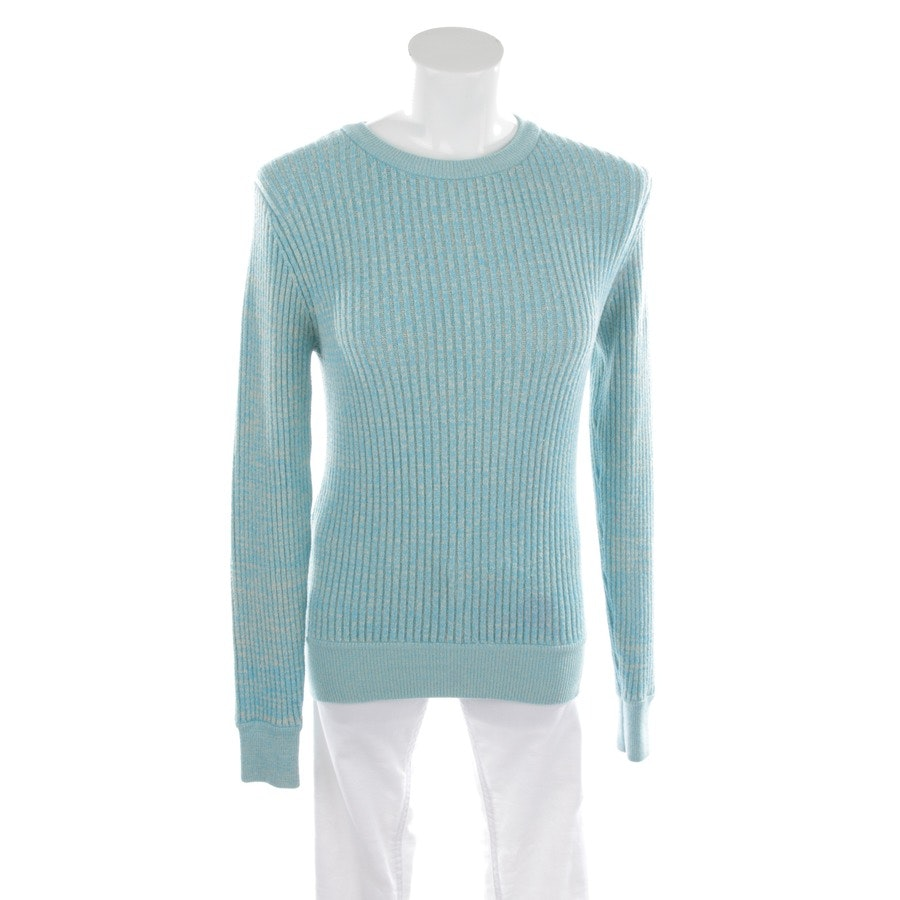 knitwear from Ganni in sky blue and grey size XS