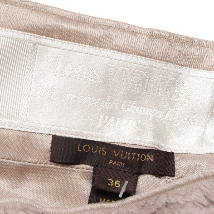 Rock von Louis Vuitton in Beige Gr. 34 FR 36