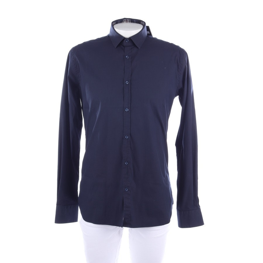 business shirt from Aglini in dark blue size 44 - new