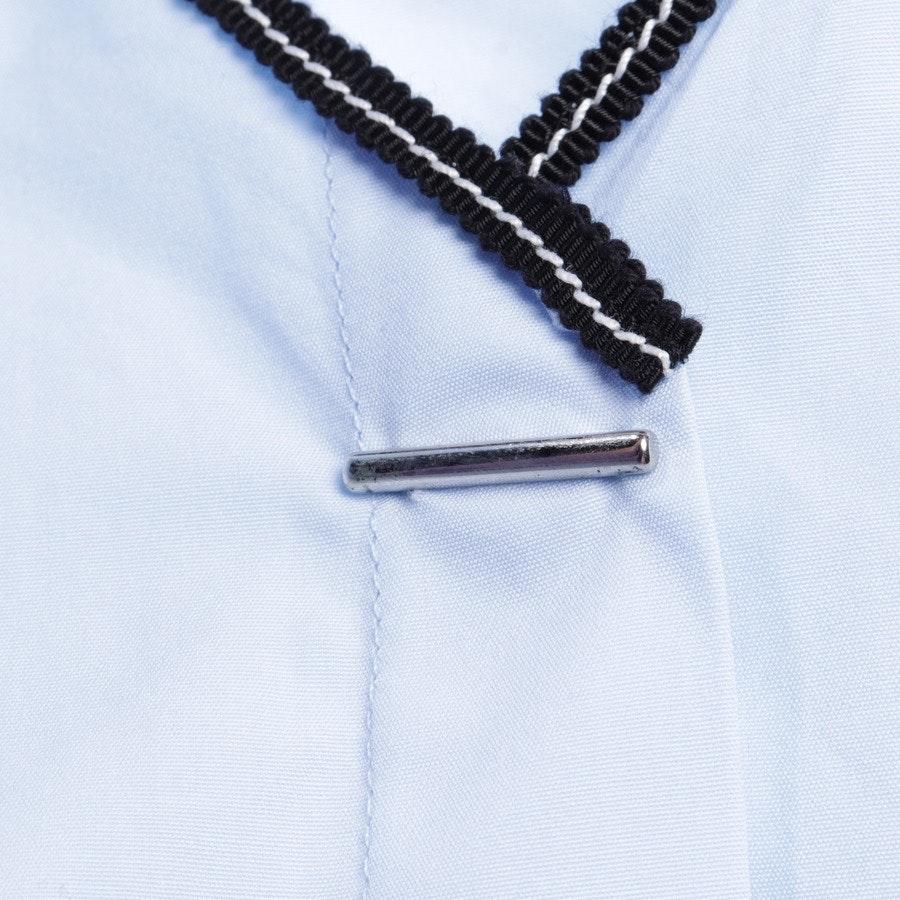 Bluse von Thierry Mugler in Himmelblau und Schwarz Gr. 36 FR 38 - Neu