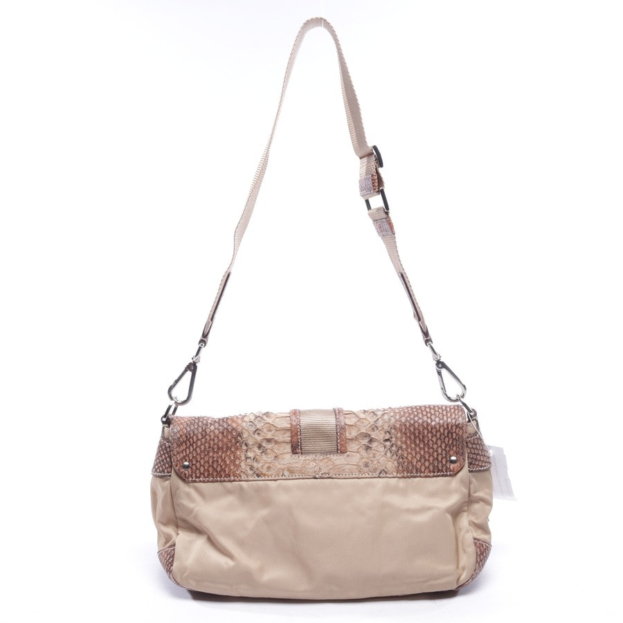 shoulder bag from Prada in beige and brown