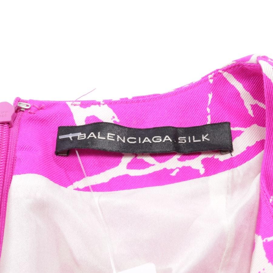 Seidenkleid von Balenciaga in Fuchsia und Beige Gr. 36 FR 38