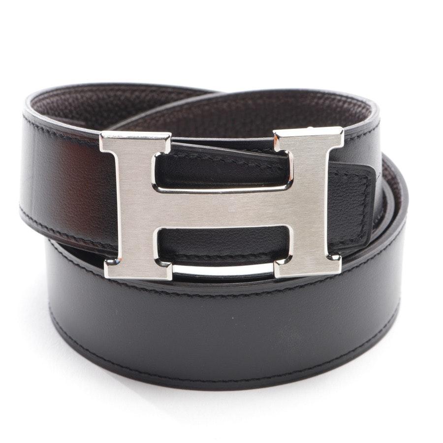 Wendegürtel von Hermès in Dunkelbraun und Schwarz Gr. 90 cm